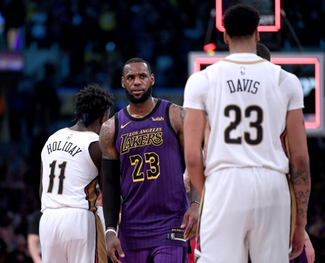 LeBron James planned to hand his no.23 jersey to Anthony Davis (Picture: Getty)