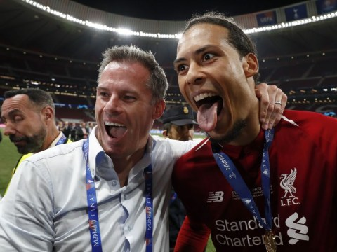 Jamie Carragher trolls Gary Neville after Liverpool win Champions League