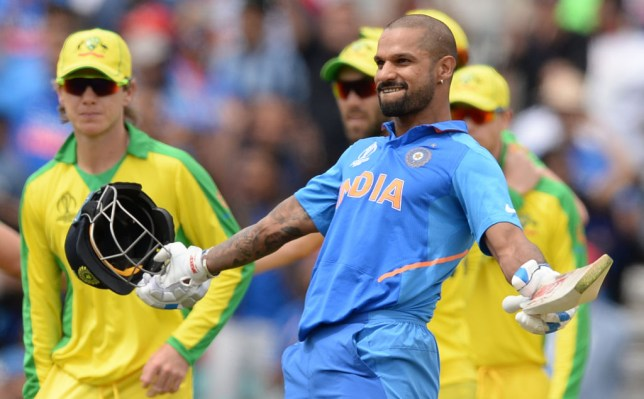 Shikhar Dhawan scored a superb hundred during Sunday's World Cup win over Australia
