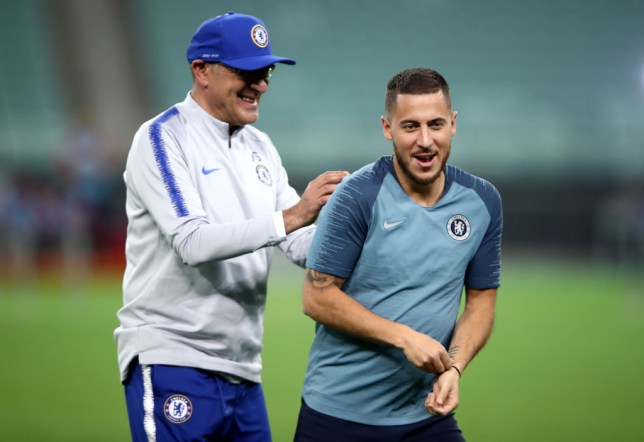 Maurizio Sarri says he had to accommodate Eden Hazard at Chelsea