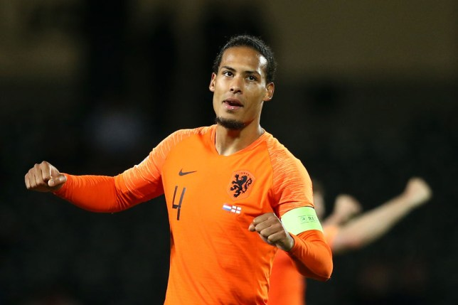 Virgil Van Dijk captained the Dutch to a win over England