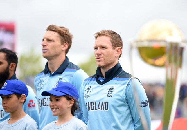 Eoin Morgan pulled up in England's World Cup win over West Indies