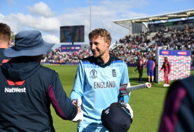 Joe Root's century helped England defeat West Indies in the World Cup