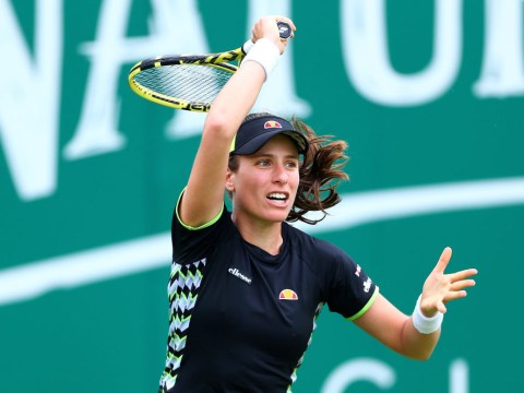 Johanna Konta coy on chances of teaming up with Andy Murray at Wimbledon