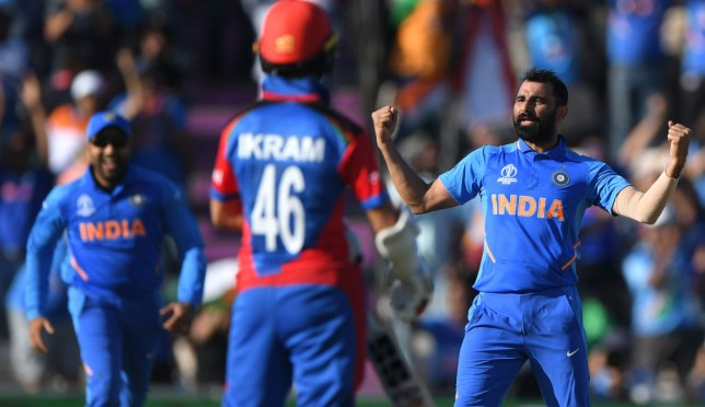 Mohammad Shami took a hat-trick as India beat Afghanistan at the Cricket World Cup