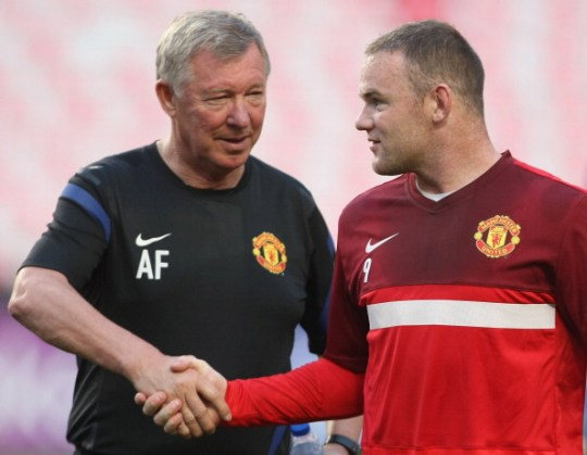 Rooney played under Sir Alex for nine years