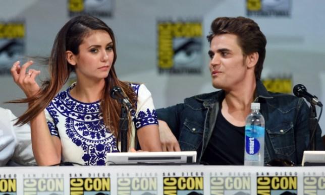 Nina Dobrev and Paul Wesley at Comic Con 2014