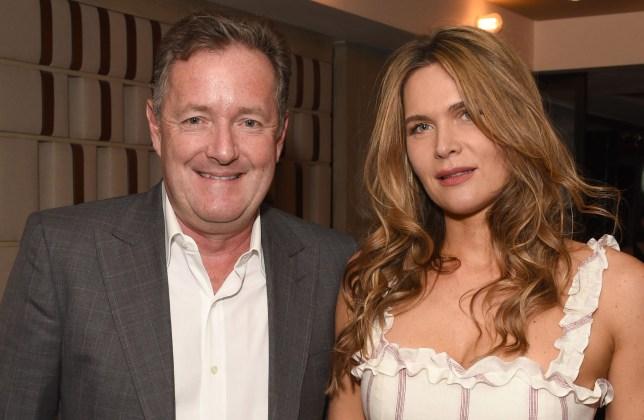 Good Morning Britain's Piers Morgan and British journalist Celia Walden