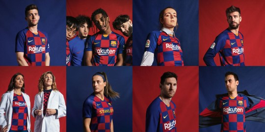 low priced 282b3 77086 Nike reveal new Barcelona 'checkboard' kit for 2019-2020 ...