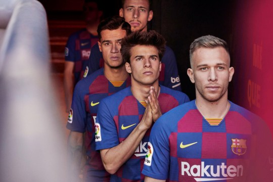 low priced 53c8f 87cbd Nike reveal new Barcelona 'checkboard' kit for 2019-2020 ...