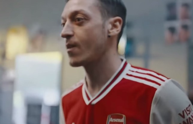 Mesut Ozil stars in the video promo for Arsenal's new Adidas kit