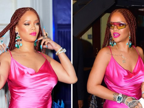 Rihanna frankly needs to stop as she slays in hot pink micro-mini at Fenty launch