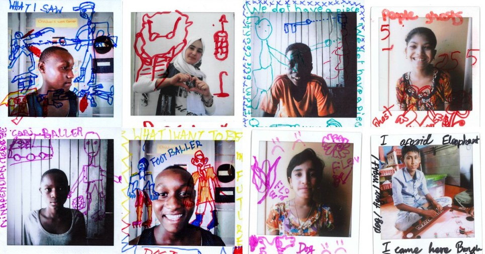 Children drew their dreams and their fears