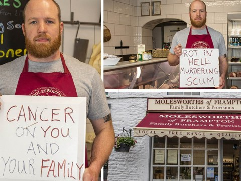 Radicalised vegans leave sign at butchers wishing 'cancer on your family'