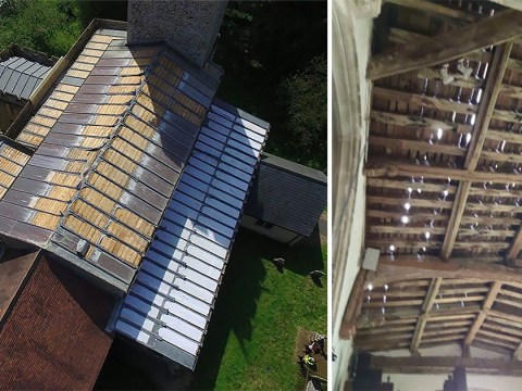 Thieves steal almost entire lead roof of 800-year-old church