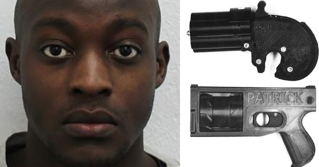 He pleaded guilty today, on the basis that he manufactured the guns so he could use them as props in a film project for his course at London South Bank University (Picture: PA)