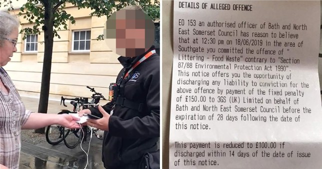 Woman fined £150 by Bath officer for feeding pigeon sausage roll