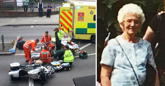 Irene Mayor was hit by a member of Prince William and Kate's royal convoy as they went to an event in Windsor