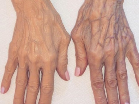 Kim Kardashian covers 84-year-old nan MJ's veins in body foundation because we're not allowed to have veins anymore