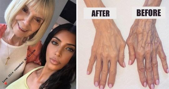 Kim Kardashian and her grandmother MJ