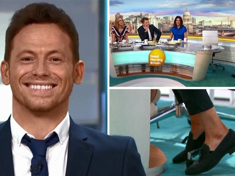 Joe Swash mocked for showing up to Good Morning Britain in really short trousers after buying the wrong size