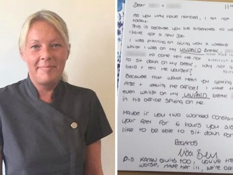 Cleaner quits job and calls boss an 'arsehole' in 'sorry for your loss' card