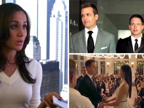 Meghan Markle's Rachel Zane slaps Mike Ross in Suits season 9 throwback trailer