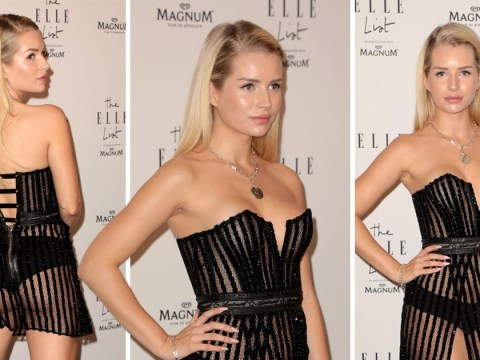 Lottie Moss preaches body positivity as she admits to being 'uncomfortable with weight' in sheer mini dress
