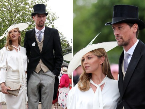 Abbey Clancy and Peter Crouch are dapper as anything as they take on Ascot after birth of fourth child