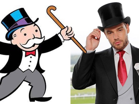 Liam Payne mocks his own Ascot outfit as he compares himself to the Monopoly man