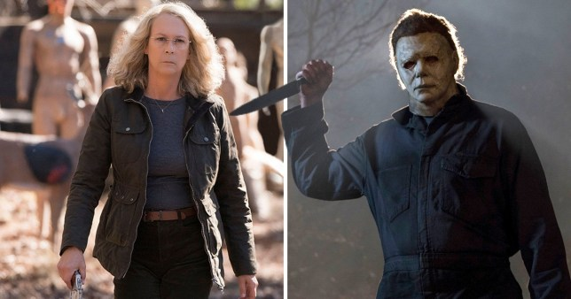 Halloween's Jamie Lee Curtis and Michael Myers
