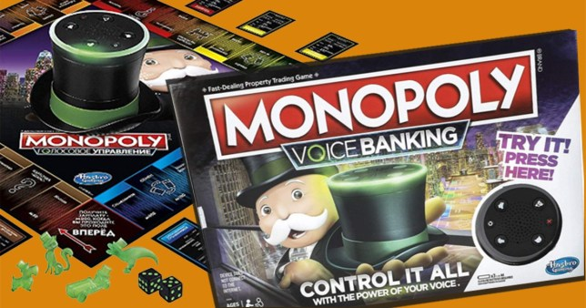 A photo of the new Monopoly game
