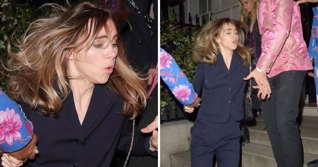 Suki Waterhouse stumbles leaving London club Annabel's