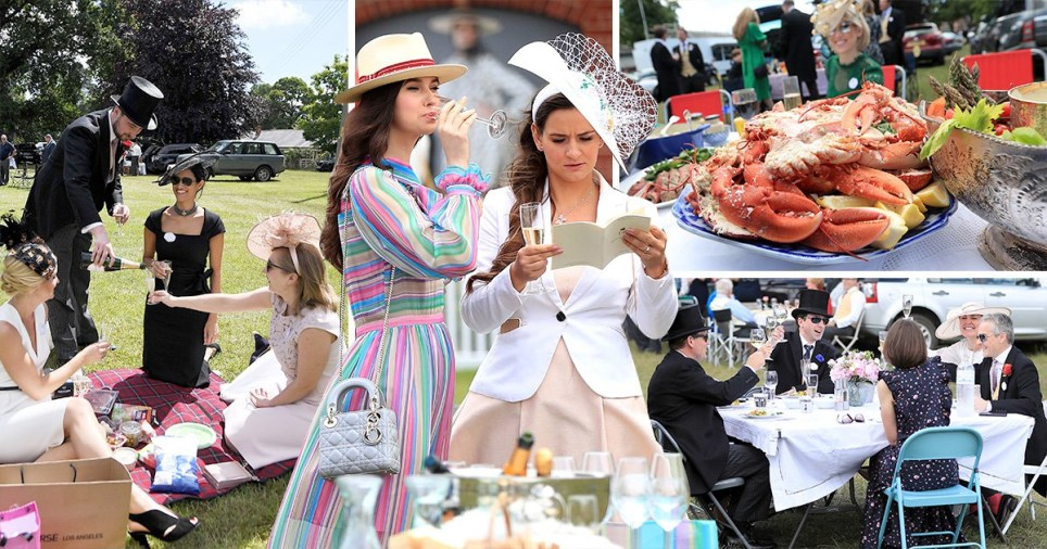 Racegoers at Royal Ascot took the opportunity to serve their fanciest food and fizz