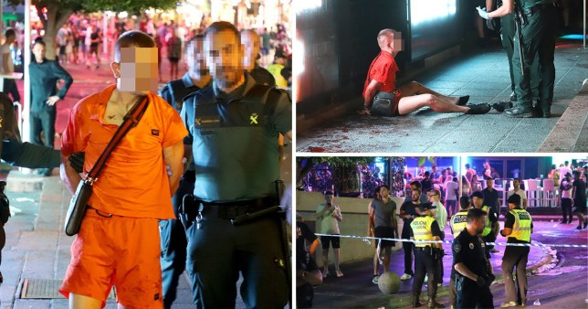 Four Brits stabbed in Magaluf