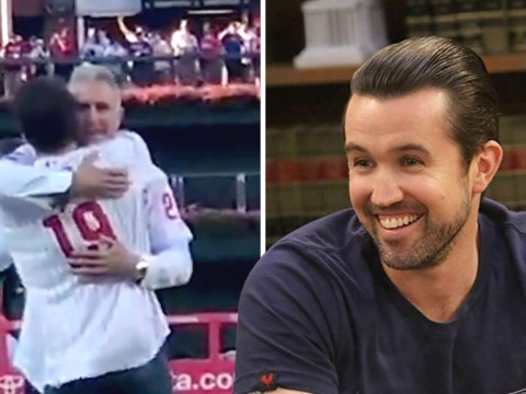 It's Always Sunny In Philadelphia's Mac finally got to 'have a catch' with Chase Utley