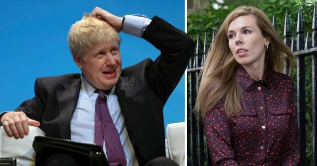 Boris Johnson (Left) and Carrie Symonds (right)