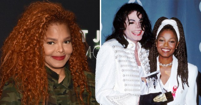 Janet Jackson with late brother Michael Jackson at the Grammys