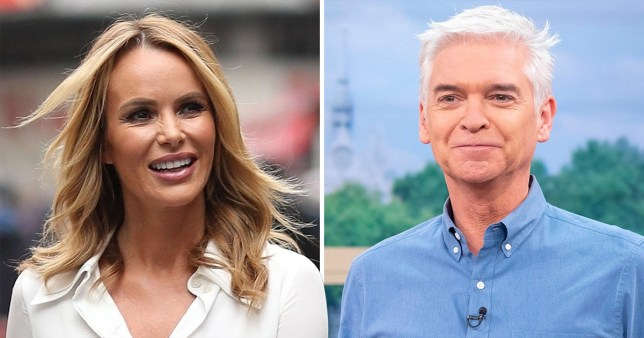 Amanda Holden and Phillip Schofield