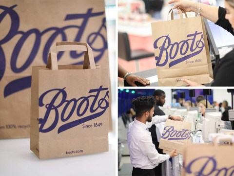 Boots replaces plastic bags with fully recyclable paper bags