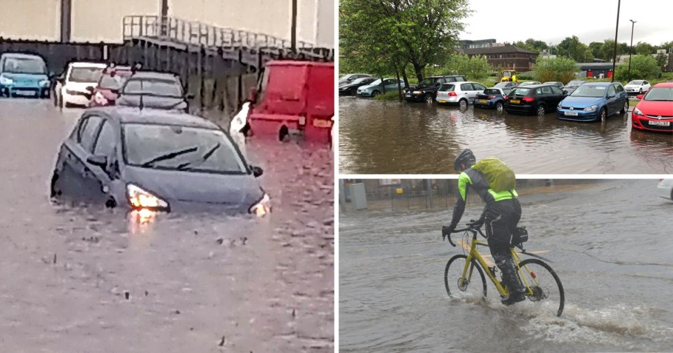 Residents in Ediburugh said roads were 'impassable' (Picture: Alamy, SWNS, @Ken_J_Murray/Twitter)