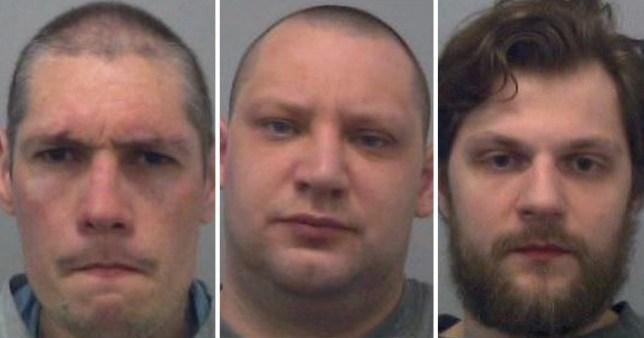 Stephen Boorman, 34, James Brabbs, 33, Jibreel Raheem, 26,