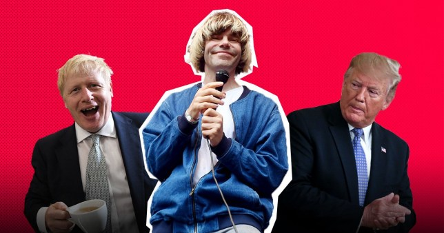 Boris Johnson, Tim Burgess and Donald Trump