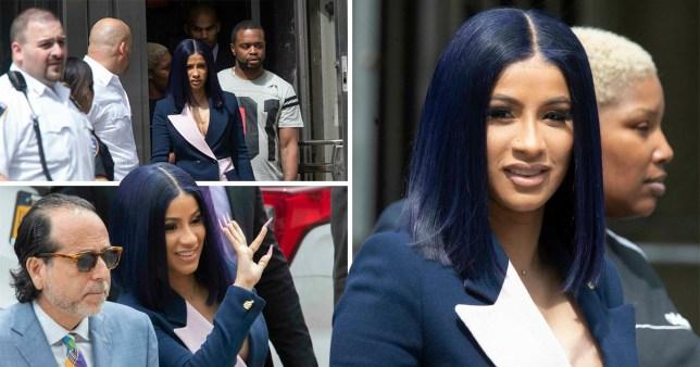 Cardi B leaving New York Supreme Court