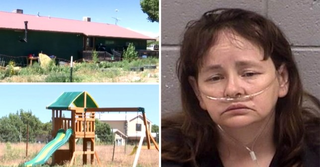 Mum of 15 is accused of boiling four newborn puppies alive in front of her kids (Picture: KOB4)
