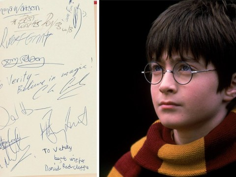 Daniel Radcliffe's 'first autograph' as Harry Potter sells for £2,600