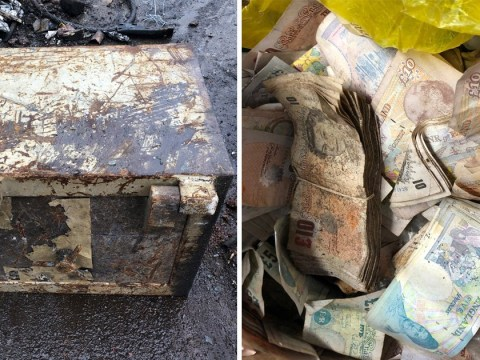 Safe being cut up for scrap metal still had £20,000 cash inside