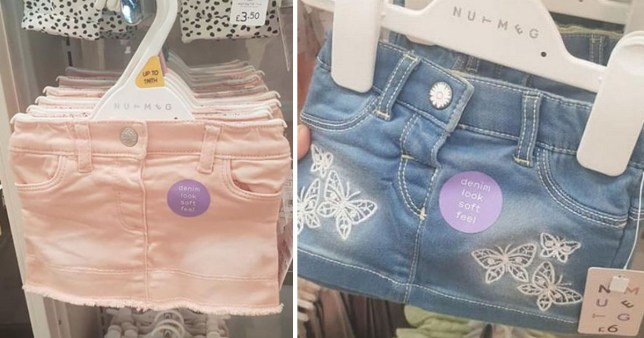Mums' anger at Morrisons denim miniskirts for babies