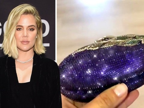 Khloe Kardashian 'definitely getting some birthday eggplant' as Kim gifts her phallic clutch