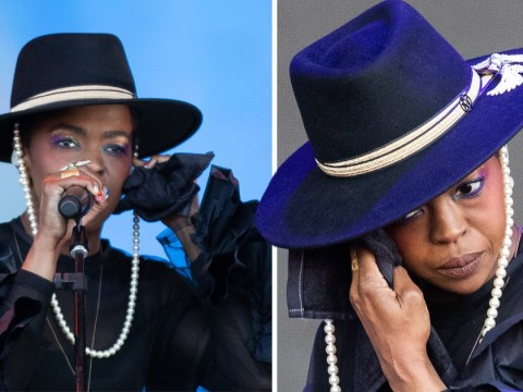 Lauryn Hill 'berates stage engineers' at Glastonbury as she fiddles with earpiece following 'sound issues'